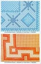 Resultado de imagen para graficos de bordados em tecido xadrez para imprimir
