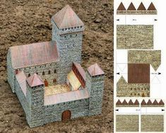 PAPERMAU: Two Paper Models Of Medieval Castles For Dioramas, RPGAnd Wargames - by Norbtach