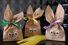 U mnie na wsi: Zajączkowe torebki na małe prezenty - DIY