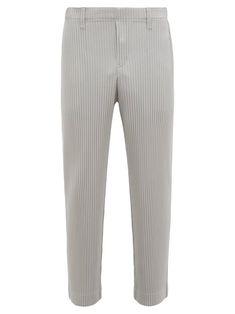 HOMME PLISSE ISSEY MIYAKE HOMME PLISSÉ ISSEY MIYAKE - STRAIGHT LEG PLISSÉ TROUSERS - MENS - GREY. #hommeplisseisseymiyake #cloth Pleats Please, Issey Miyake Men, Grey Trousers, Pajama Pants, Mens Fashion, Legs, Shopping, Style, Gray Slacks