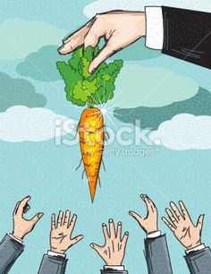 Business Incentive Concept. Carrot Royalty Free Stock Vector Art Illustration