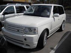 custom all white Range Rover