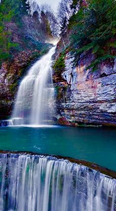 Photo – Travel and Tourism Trends 2019 Beautiful Waterfalls, Beautiful Landscapes, Wonderful Places, Beautiful Places, Les Cascades, Turkey Travel, Holiday Destinations, Places Around The World, Amazing Nature