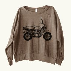(in cranberry) Honda Monkey Motorcycle Graphic printed on Women's by GP101