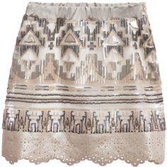 Illudia Gold & Black Sequin Skirt at Childrensalon.com
