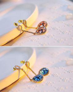 lovely tears Swarovski Crystal Earrings