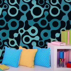 Papel de parede adesivo abstrato - StickDecor   Decoração Criativa