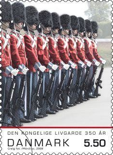 Danish stamp,,,,our queen Magrethes guards...like it