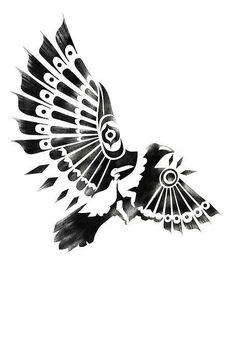 black and white RAVEN / CROW SHAMAN spiritual by sassanfilsoof.