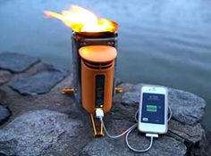 Keeping cell phone charged during power outage ... e.g., biolite-campstove. www.eartheasy.com
