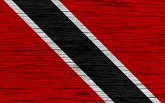 Download wallpapers Flag of Trinidad and Tobago, 4k, North America, wooden texture, national symbols, Trinidad and Tobago flag, art, Trinidad and Tobago
