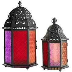 Moroccan Lanterns $20 and $34 #PierOne  Great for a patio setting and outdoor party.