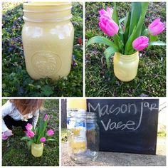 Simple Mason Jar Vase