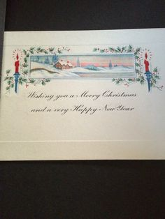 A simple but really good vintage Christmas card
