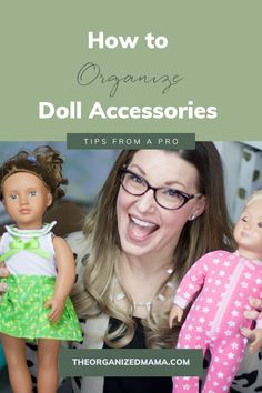 Find doll accessory organization and storage ideas. Learn how to declutter, organize and store the doll accessories so they are out of sight but still easily accessible. We share quick tips on organizing doll accessories such as clothes and furniture. Head over to our blog for more toy organizing hacks! Kids Bedroom Organization, Playroom Organization, Organizing, Doll Storage, Small Playroom, Kid Closet, Inspiration For Kids, Decluttering, Doll Accessories