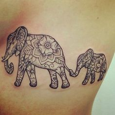 Elephant tattoos are on the rise among tattoo lovers of all ages and backgrounds. The elephant is known to represent many things among different cultures. Because of its size and strength, it represents being strong, and being tough, like its exterior skin. Patience is also a virtue symbolic of this great animal, as is honor. One of the most common reasons that people get an elephant tattoo is because elephants mean good luck and good fortune, and everyone wants some of that!
