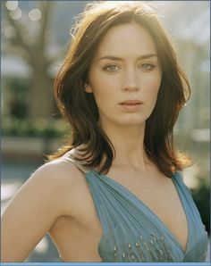 "Emily Blunt ""I have sly eyes. When I was in school they always said, 'Emily can never be elected Head Girl because you never know what she's thinking."""