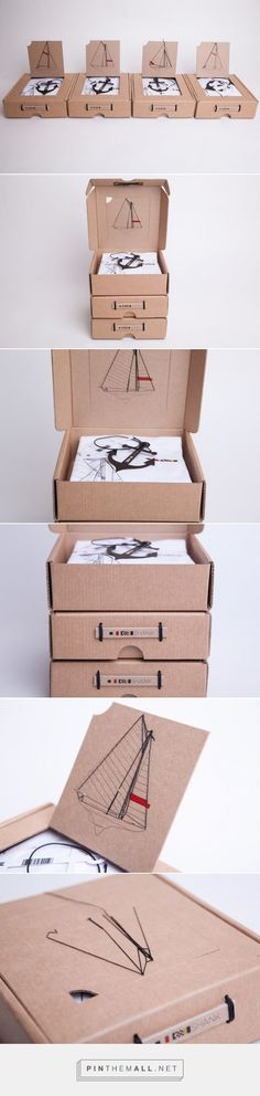 Packaging design Box Thoughts, Shank Tshirt Design And Packaging (Student Project) Packaging Kraft Packaging, Shirt Packaging, Clothing Packaging, Fashion Packaging, Cool Packaging, Packaging Design Inspiration, Graphic Design Inspiration, Origami Paper Art, Branding Design