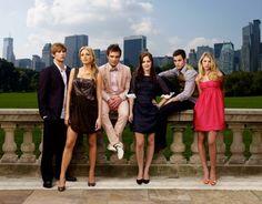 Nate, Serena, Chuck, Blair, Dan and Jenny in Season 1