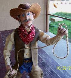 2011 Male Cloth doll challenge Intermediate Zeke The ranch hand by Anita Louise (Weezy) Thomas
