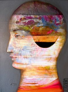 Buy Portrait of a man on the wo., Acrylic painting by Victor Tkachenko on Artfinder. Unusual Art, Abstract Faces, Original Art For Sale, Acrylic Painting Canvas, Canvas Art, Fantasy Artwork, Simple Art, Lovers Art, Find Art