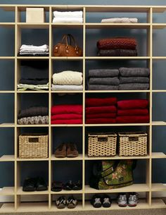 shelving idea for craft closet