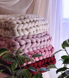 "Wool Hugs Chunky Knit Throws 30""x50"" $157 Order now at wool-hugs.com"