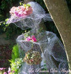 Chicken wire lady