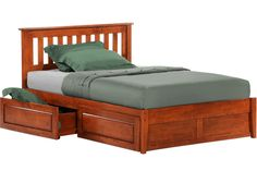 Rosemary Platform Captains Storage Bed Frame Cherry