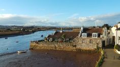 Topsham - A view from the church wall towards Wixels