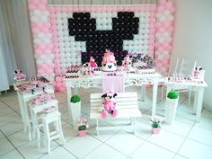 Doce Design Confeitaria: Festa Minnie Rosa