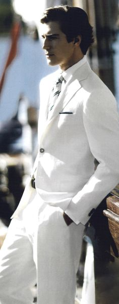 Canali white suit