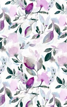 Wall Paper Floral 57 Ideas For 2019 Watercolor Wallpaper, Flower Wallpaper, Watercolor Flowers, Floral Pattern Wallpaper, Floral Wallpaper Desktop, Gold Wallpaper, Watercolor Pattern, Fabric Wallpaper, Motif Floral