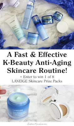 A Fast & Effective K-Beauty Anti-Aging Skincare Routine + Win 1 of 8 LANEIGE Skincare Prize Packs! (US) Ends 10/17!  Have you heard about the Korean skincare trend? For the past couple of years I've seen Korean skincare taking over my social media feeds and I have to admit I've been more than curious, I've been dying to try it.... #LovingLANEIGE #IC #partner