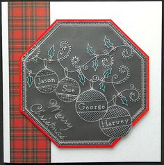 Clarity Groovi Plates Christmas card by Lynne Lee