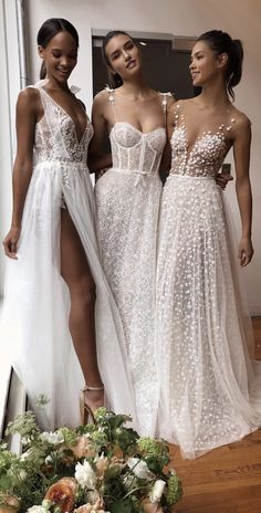 beauties from the NYBFW showroom ❤️ collection coming soon. Dream Wedding Dresses, Boho Wedding, Bridal Dresses, Wedding Gowns, Bridesmaid Dresses, Prom Dresses, Dream Dress, I Dress, Muse By Berta