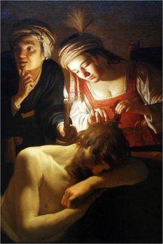 Gerrit van Honthorst, Samson and  Delilah, ca  1615 Cleveland Museum of Art