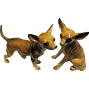 Darling Pair of Chihuahua Dog Shakers, Super Quality!