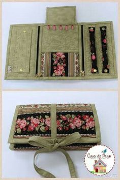 Discover recipes, home ideas, style inspiration and other ideas to try. Jewelry Roll, Jewelry Case, Jewelry Holder, Travel Jewelry Organizer, Jewelry Organization, Sewing Crafts, Sewing Projects, Sewing Accessories, Cute Gifts