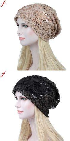 5d54396030620 2018 autumn fashion women lace flower slouchy baggy head cap chemo beanie  cancer hat lady turban