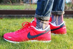 Gardening with Stance Socks and Air Vortex Hyper Red's.