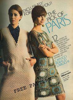 Free The Vintage Pattern Files: Free 1960's Knitting & Crochet Patterns - Paris Designs