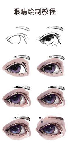 眼睛绘制教...来自蓝莓雪椰的图片分享-堆糖