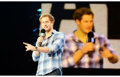 Britain's Prince Harry gives a speech at the inaugural WE Day UK at Wembley Arena in London Friday March 7, 2014. Prince Harry will share a ...