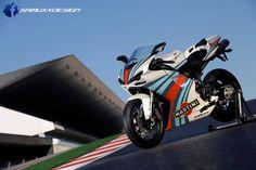 My personal reinterpretation for Martini graphics on a Ducati 1198 Ducati 1198 Martini Racing Ducati 1199 Panigale, Ducati Superbike, Ducati Motorcycles, Italian Colors, Side Car, Honda Vfr, Martini Racing, Supersport, Hot Bikes
