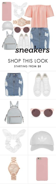 """i was busy dreaming 'bout boys"" by stxrryskies ❤ liked on Polyvore featuring Alexander McQueen, Fendi, Christian Dior, Topshop, Michael Kors and Rebecca Taylor"