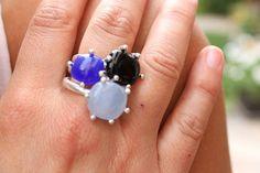 anillos en vitrofusion y plata diseños de  by Heidi Peirano Jewelry #summercollection #heidipeiranojewelry