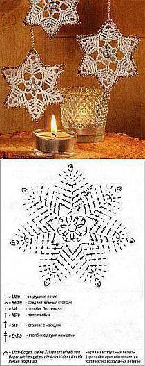 Crochet Stars - Chart ❥ 4U hilariafina http://www.pinterest.com/hilariafina/