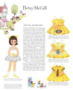 Free Vintage Printable Betsy McCall Visits Her Grandmother Paper Doll