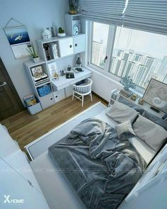 minimalist storage ideas for your small bedroom 32 ~ my.me minimalist storage ideas for your small bedroom 32 ~ my. Bedroom Setup, Room Ideas Bedroom, Small Room Bedroom, Home Bedroom, Small Rooms, Bedroom Decor, Small Room Layouts, Bedroom Artwork, Trendy Bedroom